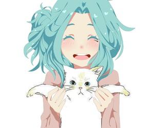 anime emo girl and kitty image