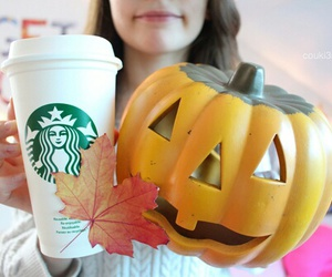 starbucks, autumn, and Halloween image