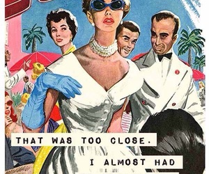 funny, vintage, and art image