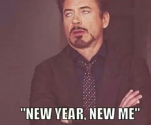 new year, funny, and bullshit image