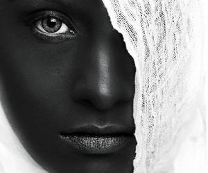 black and white, beauty, and photography image