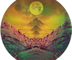 moon and mountains image