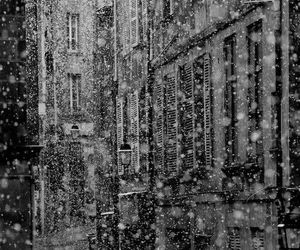 snow, black and white, and photography image