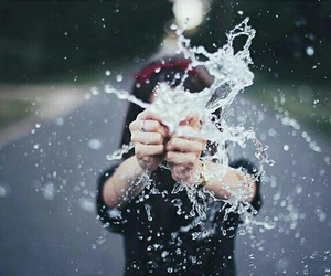 girl, water, and photo image