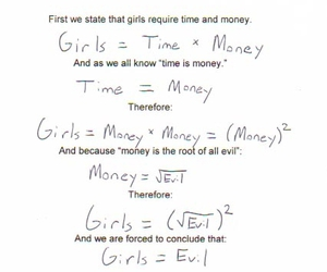 girl, evil, and math image