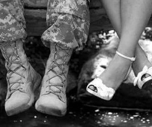 love, army, and couple image