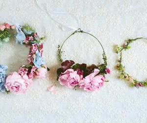 flowers, summer, and flower crown image
