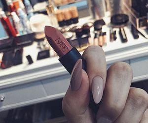 lipstick, nails, and nars image