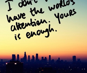 love, quote, and attention image