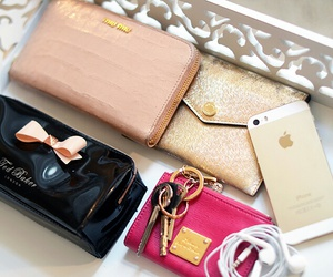 iphone, luxury, and gold image