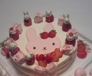 cake, strawberry, and cute image