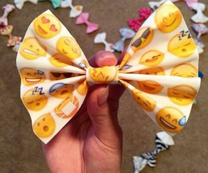 bow, yellow, and hair image
