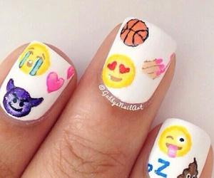 emoji and nails image