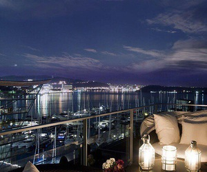 night, luxury, and view image