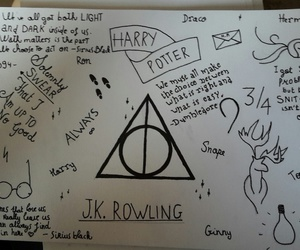 drawing, drawings, and harry potter image