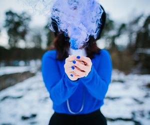 blue, hipster, and smoke image