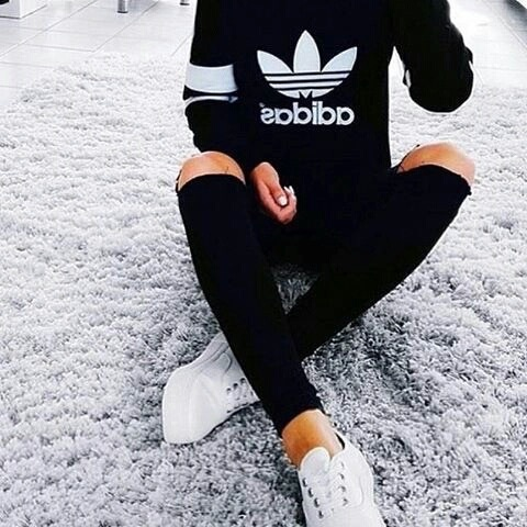 adidas, fashion, and black image