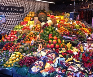 colorful, healthy food, and FRUiTS image