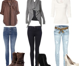 boots, heels, and jeans image
