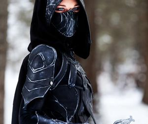 cosplay, black, and fantasy image