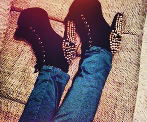 black, shoes, and jeffrey campbell image