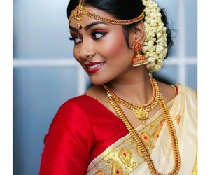 indian, beautiful, and gold image