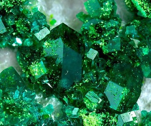 green, crystals, and stone image