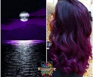 black, dark, and hair image
