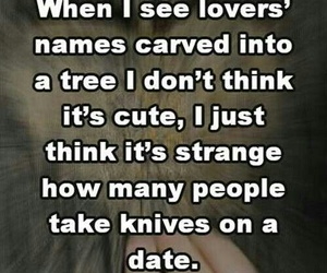 funny, date, and knife image