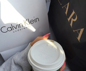 Zara, Calvin Klein, and starbucks image