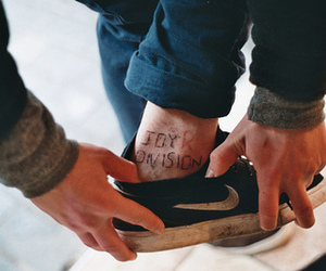 joy division, nike, and tattoo image