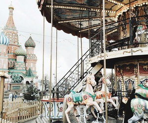 russia, carousel, and Red Square image