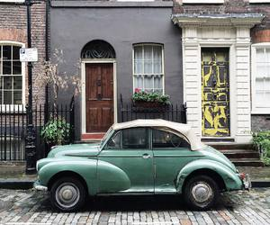 house, vintage, and car image