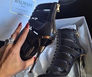 shoes, Balmain, and heels image