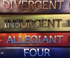books, divergent, and four. image