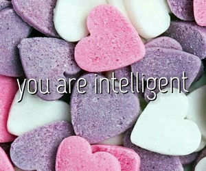compliment, intelligent, and love image