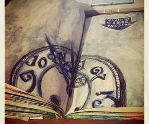 wreck this journal clock image