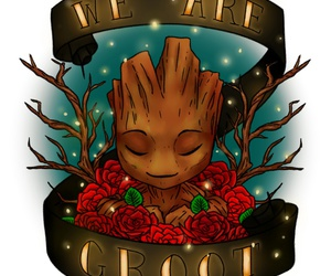 groot, guardians of the galaxy, and we are groot image