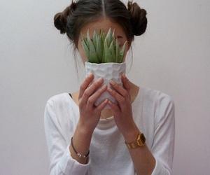 girl, plants, and tumblr image
