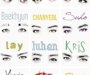 exo, exo-k, and eyes image