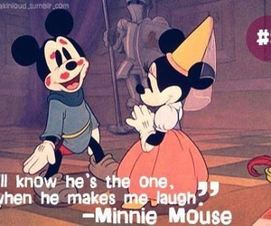 love, disney, and minnie mouse image