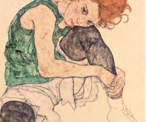 egon schiele, art, and woman image