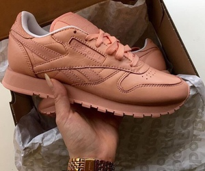 shoes, pink, and reebok image