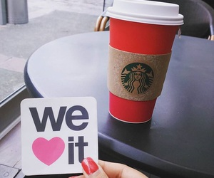 starbucks and we heart it image