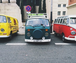 cars, colours, and hippie image