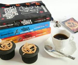 books, cupcakes, and coffee image