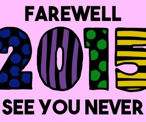 bye, farewell, and new year image