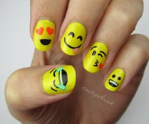 nails, emoji, and nail art image