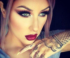 makeup, beauty, and henna image