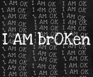broken, okay, and broken heart image